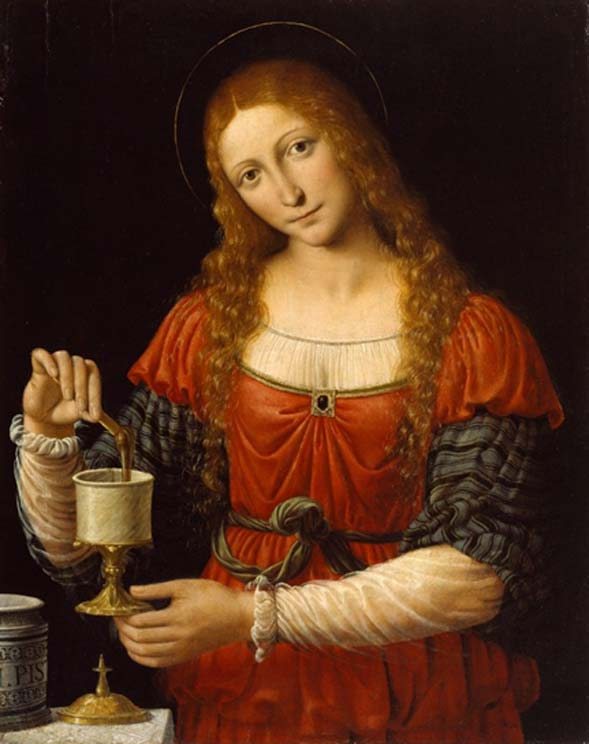 Mary Magdalene with her Sacred Jar by the fifteenth-century Italian painter Andrea Solari.
