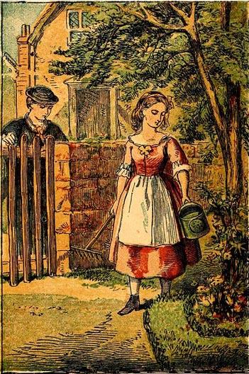 Mary, Mary Quite Contrary (1860) (Wikimedia Commons)