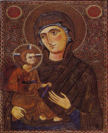 Mary and the Child Icon (13th Century) Saint Catherine's Monastery, Sinai, Egypt (Wikimedia Commons)