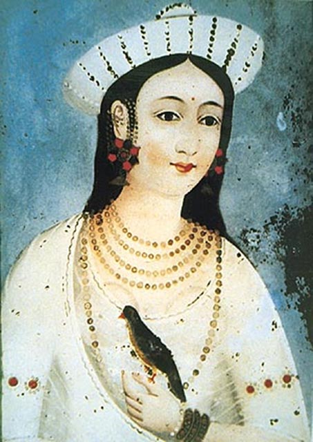 A painting said to be of Mastani.