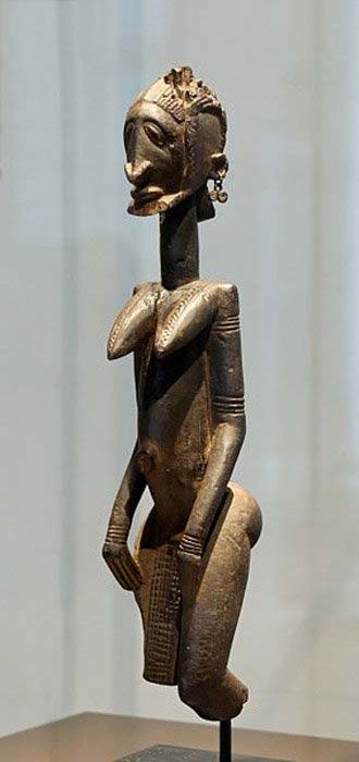 'Master of the Slanted Eyes.' Antropomorphic representation, probably a Dogon ancestor figure. (Public Domain)