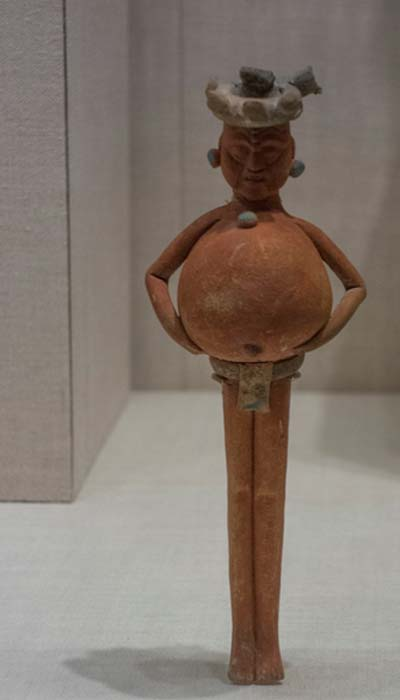 Late Classic Maya rattle from Campeche or Yucatán, Mexico (650 – 800 AD).