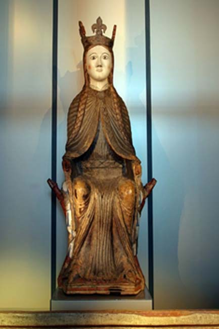 Medieval statue (dated c. 1200) Found in Urnes stave church, Luster, Western Norway, which may be St Sunniva.