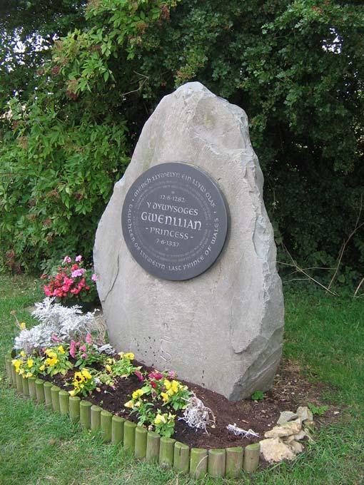 Memorial to Princess Gwenllian at Sempringham, England.