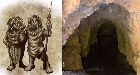 Artist's depiction of the Menhune & Tunnels