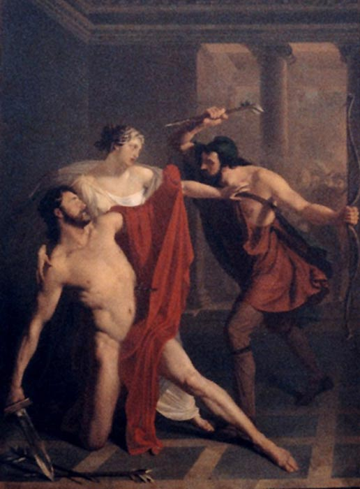 Michele de Napoli (1808–1892): Morte di Alcibiade, Death of Alcibiades (circa 1839), Naples National Archaeological Museum.