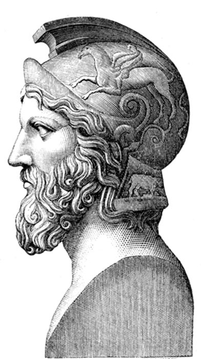 1875 Illustration depicting Miltiades.