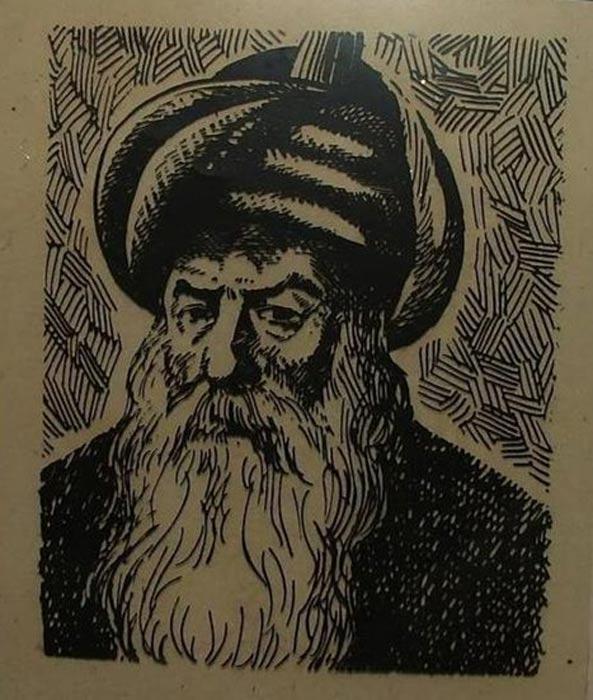 A drawing representing Mimar Sinan.