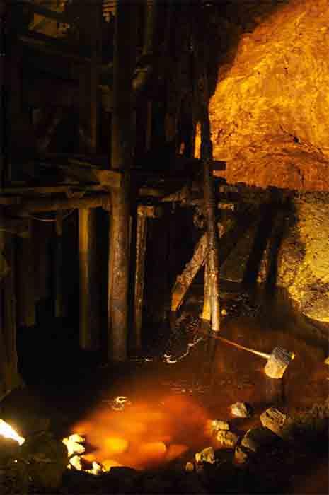 """Falun copper mine underground """"copper river."""" (bluecoomassie/CC BY-NC-ND 2.0)"""