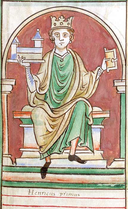 Miniature from Matthew Paris's Historia Anglorum, circa1253 AD. The portrait is generic and depicts Henry holding the Church of Reading Abbey, where he was buried. (Matthew Paris / Public domain)