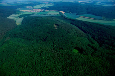 Mittelberg hill, where the Nebra Sky Disc was allegedly found. Photo credit: LDA Sachsen-Anhalt