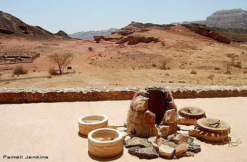 Model of copper smelting installation at Timna