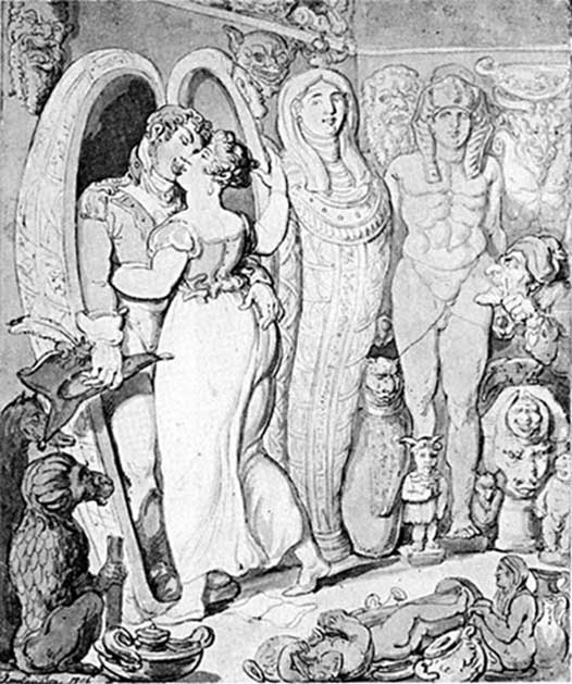 'Modern Antiques' was an 1806 caricature by Thomas Rowlandson which satirizes the British enthusiasm for ancient Egypt.