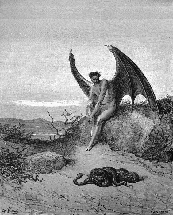 Modern Satanists view Satan as an archetype of pride, individualism, and enlightenment.  Lucifer, the fallen angel by Gustave Doré. (Public Domain)