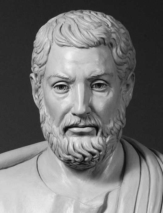 Modern bust of Cleisthenes, 'The Father of Greek democracy.'