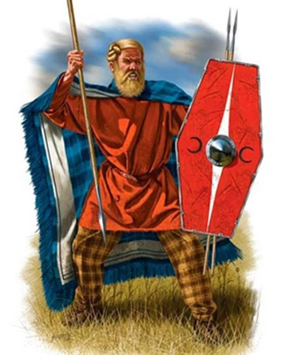 Modern representation of a Suebi warrior. (Caminando por la Historia)
