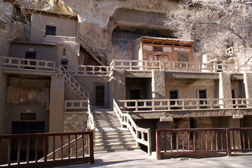 Entrance to Mogao Caves, China