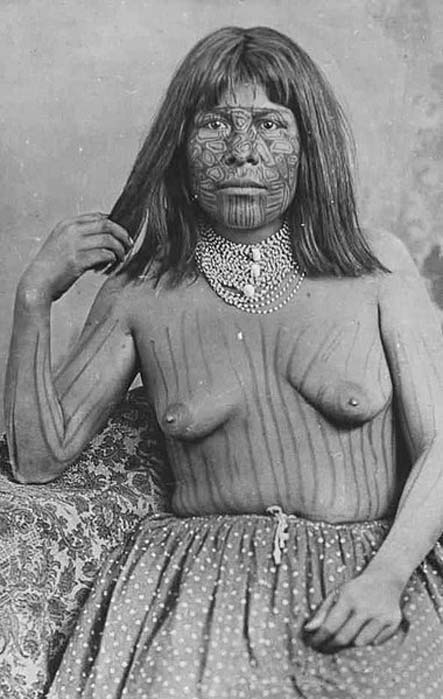 Mohave Woman with Tattoos - 1883 – Needles, CA. (Public Domain)