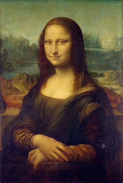 Mona Lisa, one of Leonardo da Vinci's famous paintings.