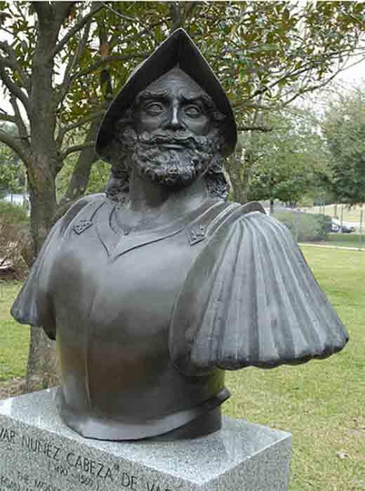 A monument dedicated to the explorer Álvar Núñez Cabeza de Vaca in Houston, Texas. (No machine-readable author provided. Ealmagro assumed (based on copyright claims) / CC BY-SA 4.0)
