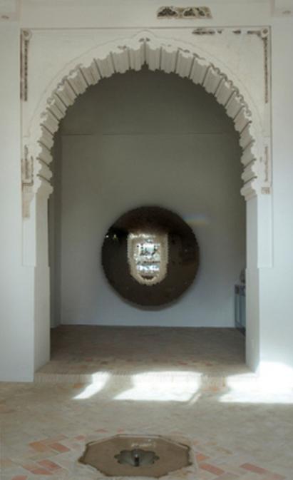 13th Century Moorish arch. Santa Clara Museum, Murcia, Spain.