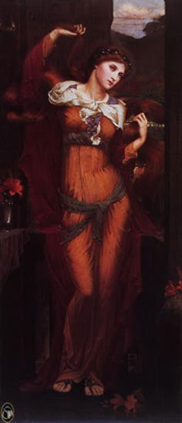 Morgan le Fay depicted as witch and temptress. Spencer Stanhope (1880). Public domain
