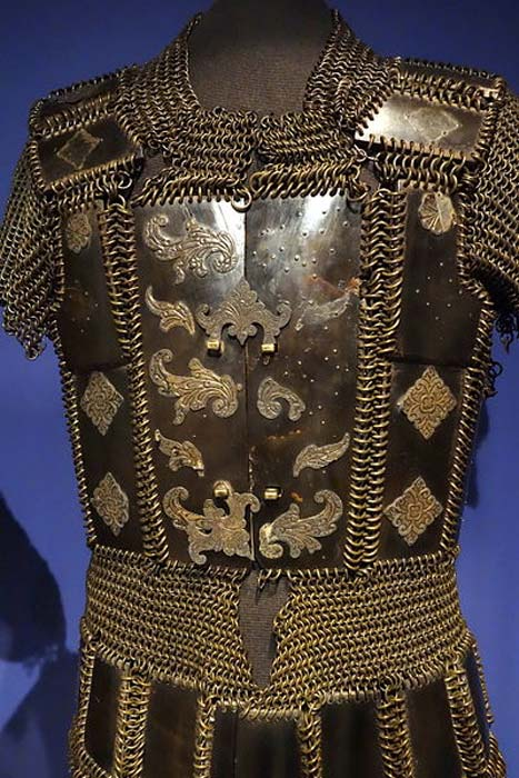 Moro armor, Philippines, undated, horn plates and mail - Glenbow Museum Canada.