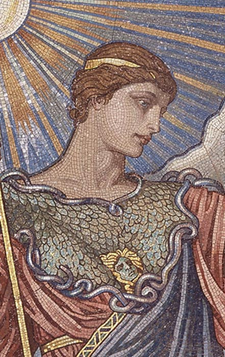 Mosaic of the Minerva of Peace in the Library of Congress.