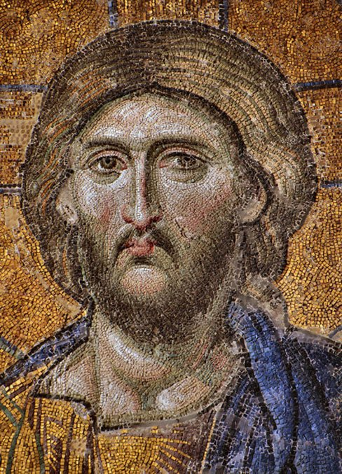 Mosaic tiles were discovered at the unearthed Byzantine church. Shown is a mosaic of Christ from the Hagia Sophia in Istanbul. (Dianelos / CC BY-SA 3.0)