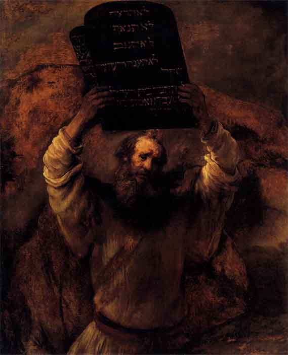 Moses smashing the Ten Commandments' tablets after finding his people were worshipping an idol. The Levites assisted in killing the worshippers of the idol before moving on to Canaan. (Rembrandt / Public domain)