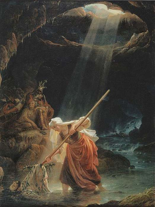 'Lemminkäinen's Mother at the River of Tuonela' (1862) by Robert Wilhelm Ekman.
