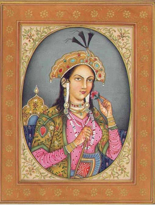Artistic depiction of Mumtaz Mahal.