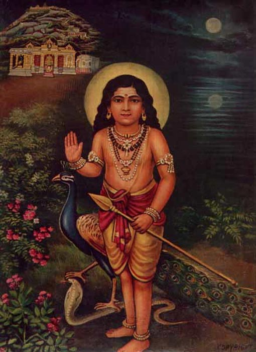 Murugan with Vel Spear