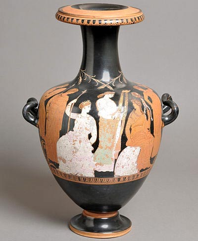 Mysteries of Eleusis depicted on pottery
