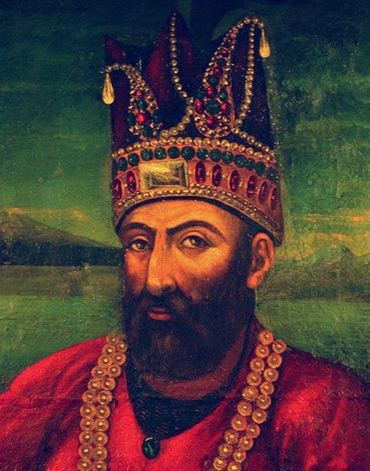 Portrait of Nader Shah.