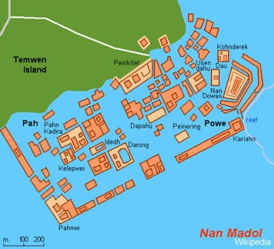 Nan Madol Map