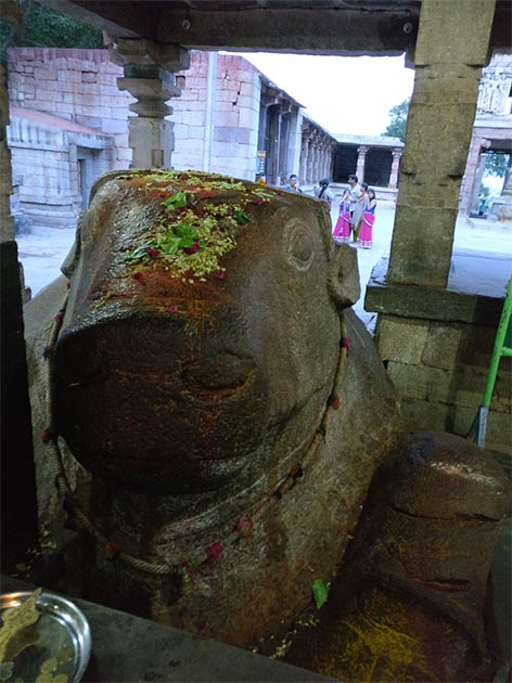 The Yaganti Nandi Statue is believed to be growing in size. (CC BY-SA 4.0)