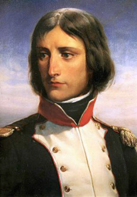 Napoleon Bonaparte, aged 23, lieutenant-colonel of a battalion of Corsican Republican volunteers. Portrait by Henri Félix Emmanuel Philippoteaux. Palace of Versailles. (Public Domain)