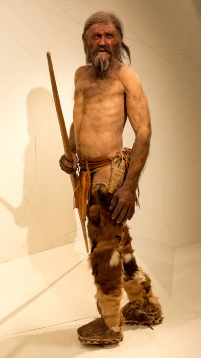 Naturalistic reconstruction of Ötzi - South Tyrol Museum of Archaeology
