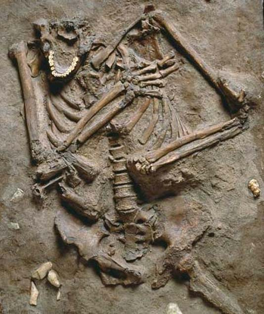 The Neanderthal remains found in the Kebara Cave, Israel. (The Subversive Archaeologist/CC BY ND 3.0)