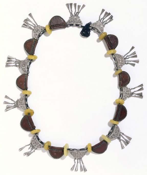 Necklace, before 1868, Ethiopia. Museum no. 408-1869.