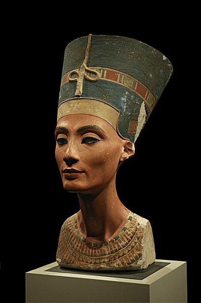 Nefertiti bust with eye liner applied ~1,320 BC (~3,300 years ago).