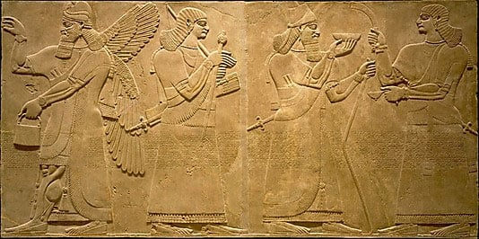 Neo-Assyrian relief carving