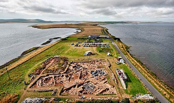 The archaeological site at the Ness of Brodgar