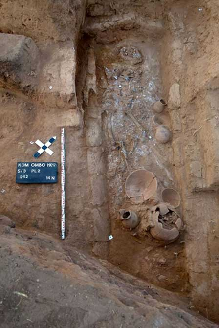 Newly-discovered child burial. Credit: Egypt's Ministry of Antiquities