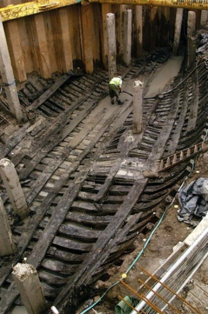 The Newport Medieval Ship being excavated and restored. (Friends of the Newport Ship)
