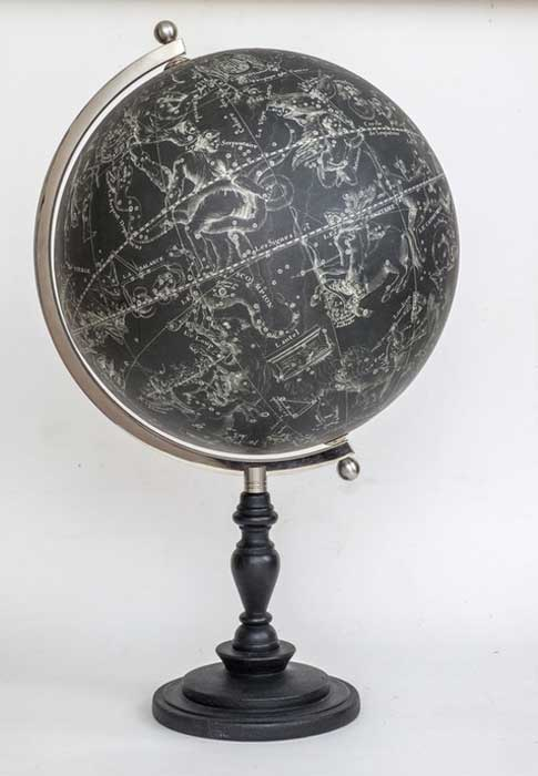 The Nicholas Bion Black Celestial Globe.
