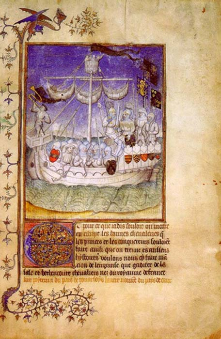 Norman expeditionary ship depicted in the chronicle 'Le Canarien' (1490). (Public Domain)