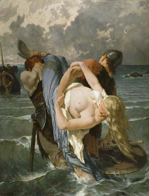 'Les pirates normands au IXe siècle' (Norman pirates in the 9th century) by Évariste-Vital Luminais (1894).