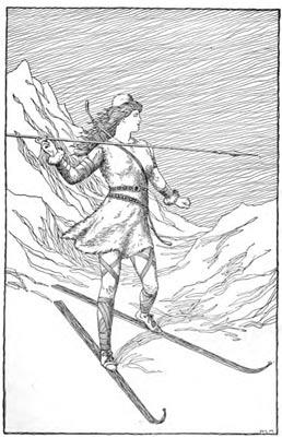 The Norse goddess Skaði